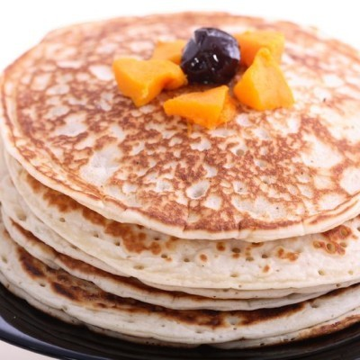 Dr. Oz shared several great pancake recipes including a Peanut Butter Protein Pancake recipe, Strawberries and Cream Protein Pancakes recipe, and a Banana Cinnamon Pancake recipe.