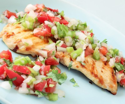 Grilled Chicken with Avocado Salsa Recipe: July 23 2012 Talk Shows