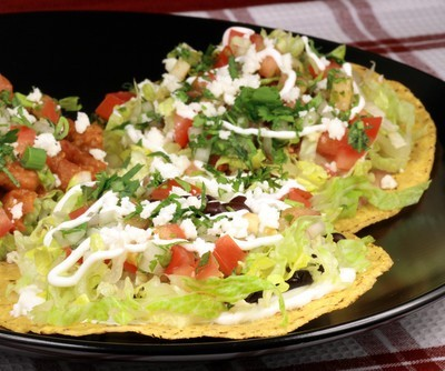 Chicken & Guacamole Tostada Recipe: August 2012 Talk Shows