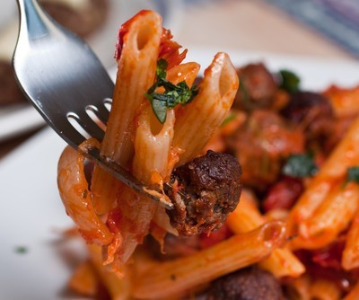 Dr Oz: Wine-Stained Pasta Recipe with Cauliflower & Sausage Meatballs