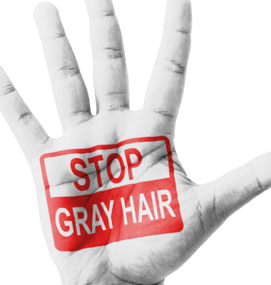 Dr. Oz talked about ways to get rid of graying hair, including hair mascara, argan oil, and accepting it for what it is.