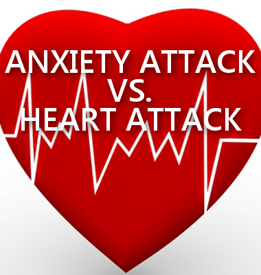Dr Oz gave tips on his show today to tell the difference between an anxiety attack and a heart attack.