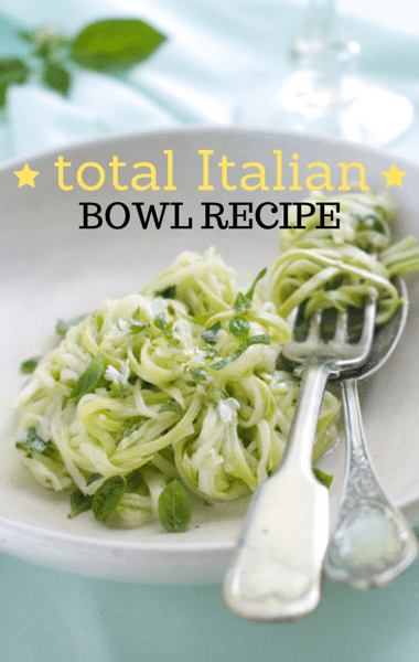 Dr. Oz Total 10 Weight Loss: Italian Bowl Recipe & Zucchini Noodles
