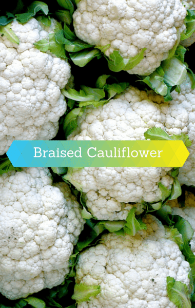 Dr. Oz: Braised Cauliflower with Garlic, Ginger and Soy Recipe