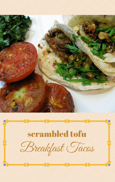Dr. Oz: Scrambled Tofu Breakfast Tacos Recipe