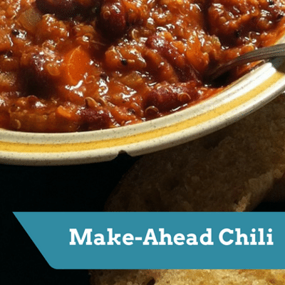 Dr Oz: Lisa Oz Make-Ahead Vegetarian Chili Recipe