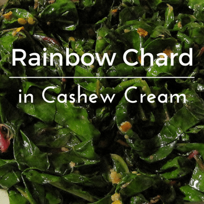 Dr Oz: Chef Food Staples + Rainbow Chard In Cashew Cream Recipe