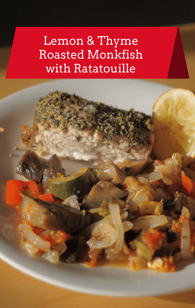 Dr Oz: Lemon-Thyme Roasted Monkfish + Ratatouille Recipe