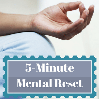 Dr Oz 5 Minute Mental Health Reset: Go From Manic to Mindful