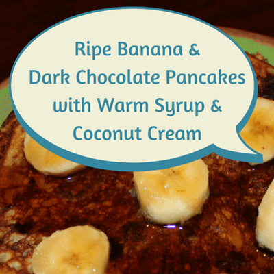 Dr Oz: Banana & Dark Chocolate Pancakes with Coconut Cream Recipe