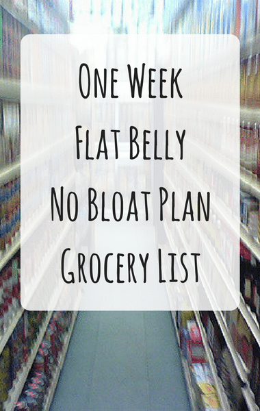 Dr Oz: Beat Belly Bloat Plan Grocery List + Savory Overnight Oats