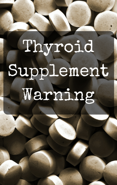 Dr Oz: Drugstore Thyroid Support Pills Contain Hormones WARNING