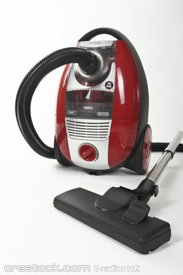 Isolated Stainless Steel Vacuum Cleaner background