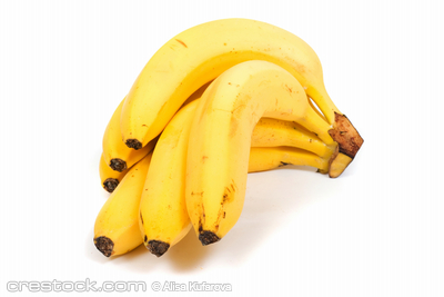 Banana, image series of fresh vegetables and f...