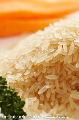 macro pic: hill of tipped rice