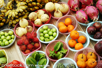 Bowls of tropical fruit from Vietnam - travel ...